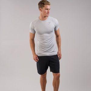 Gymshark mens apex T-shirt Light Grey Small